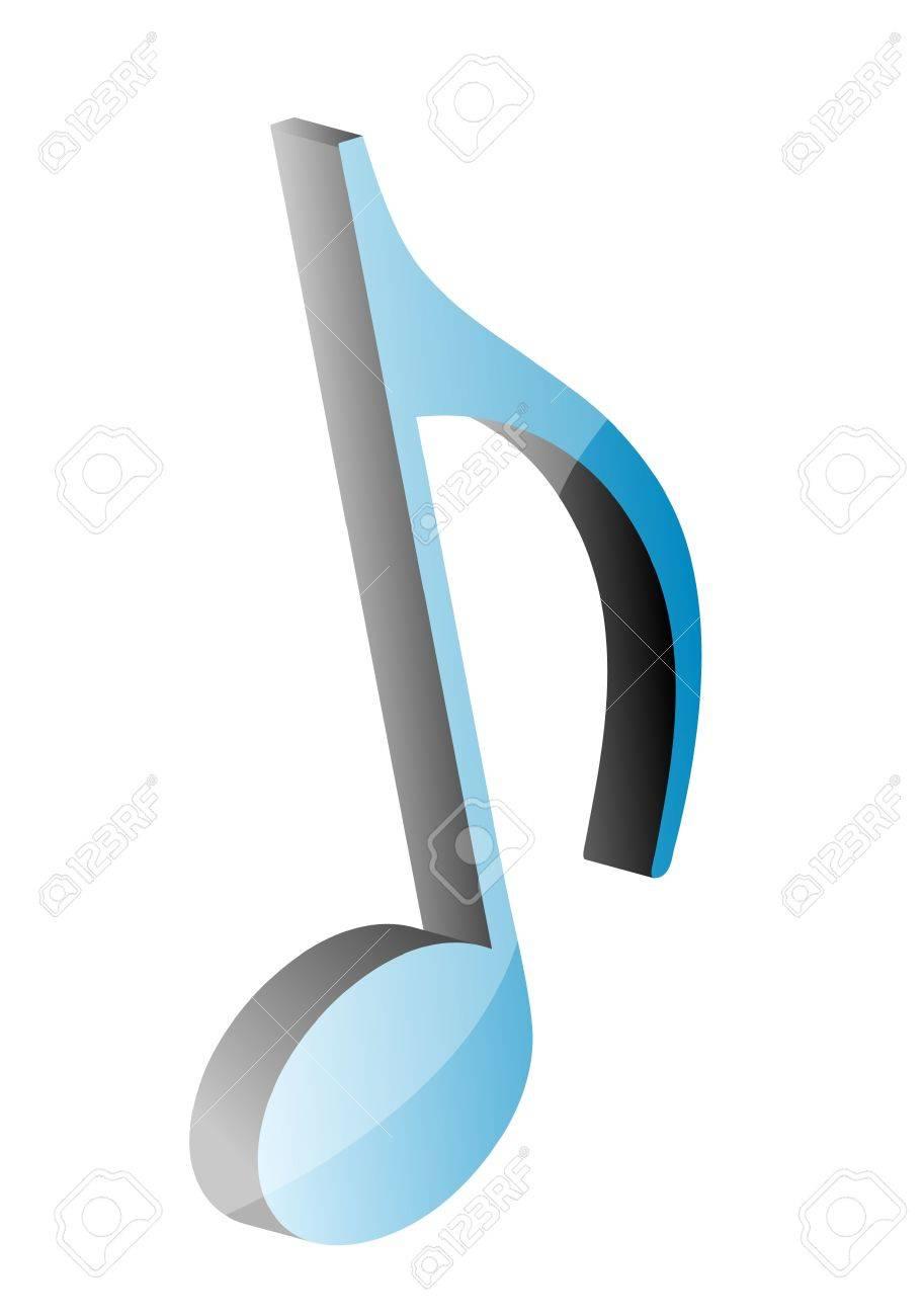 Note De Musique 3D, Illustration Clip Art Libres De Droits ...