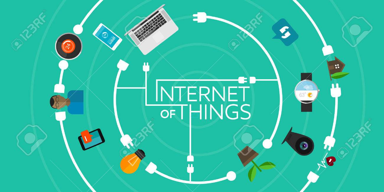 Internet Of Things Flat Iconic Illustration Thing Object Stock ...