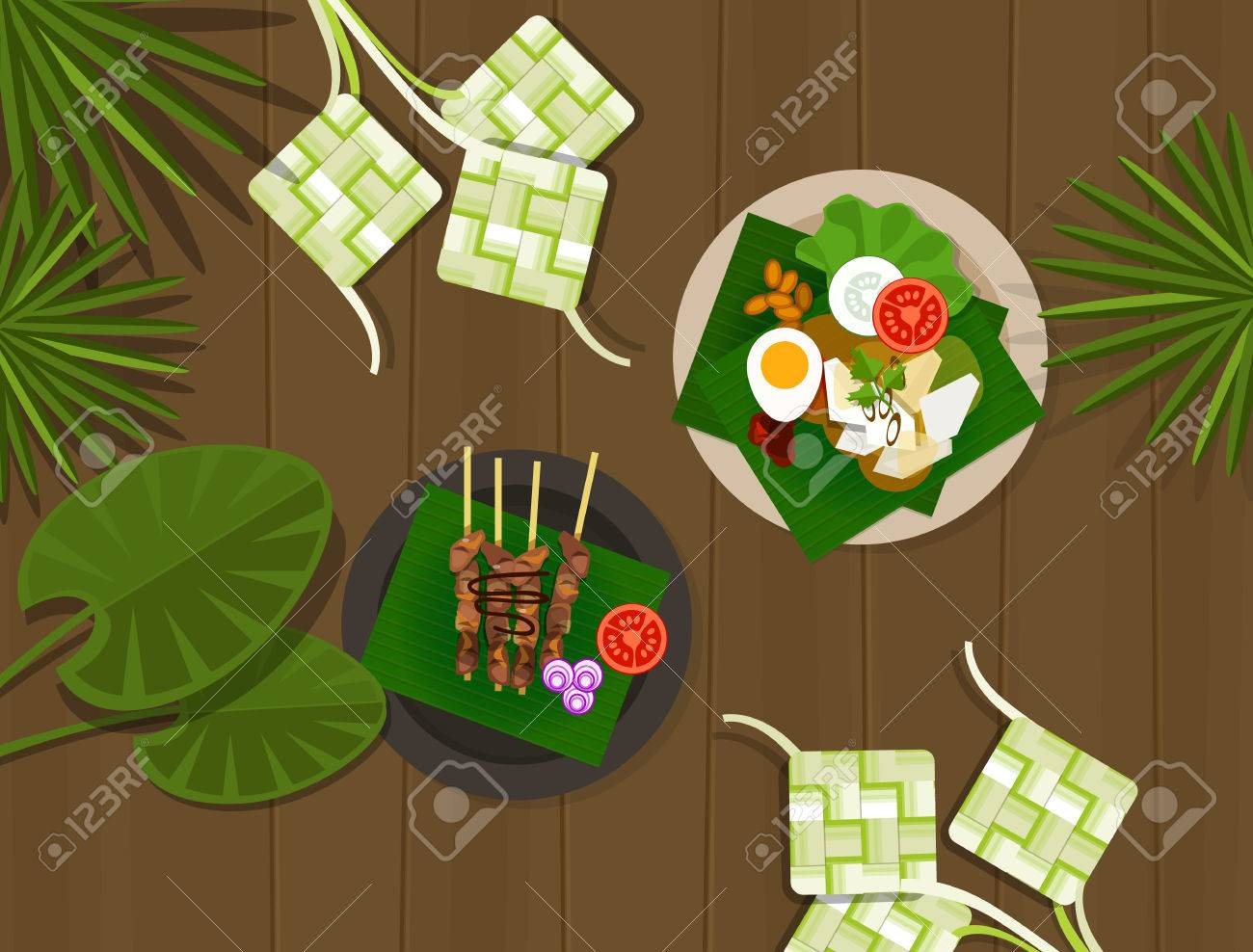 Indonesian Table Setting Ketupat Images Stock Pictures Royalty Free Ketupat Photos And