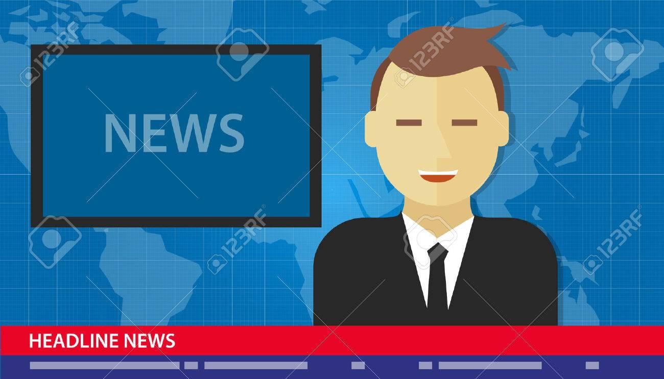 anchor man news headline breaking tv media - 41761341