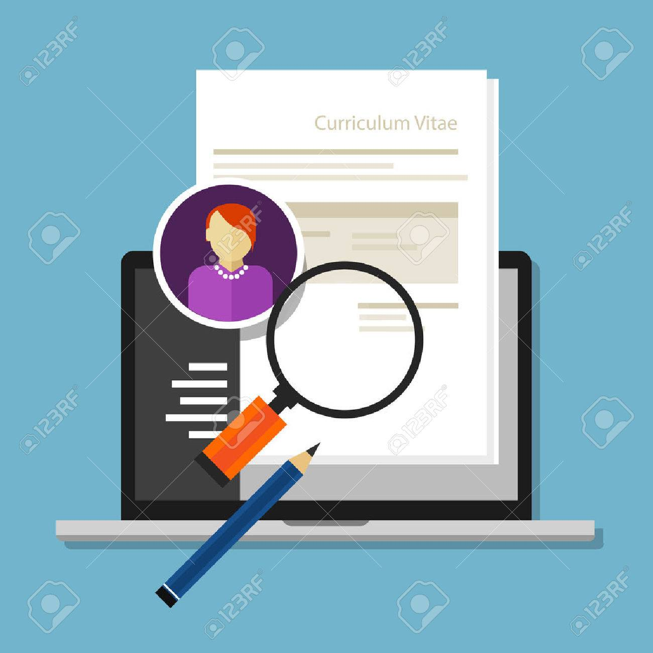 Curriculum Vitae Cv Resume Employee Recruitment Data Paper Work