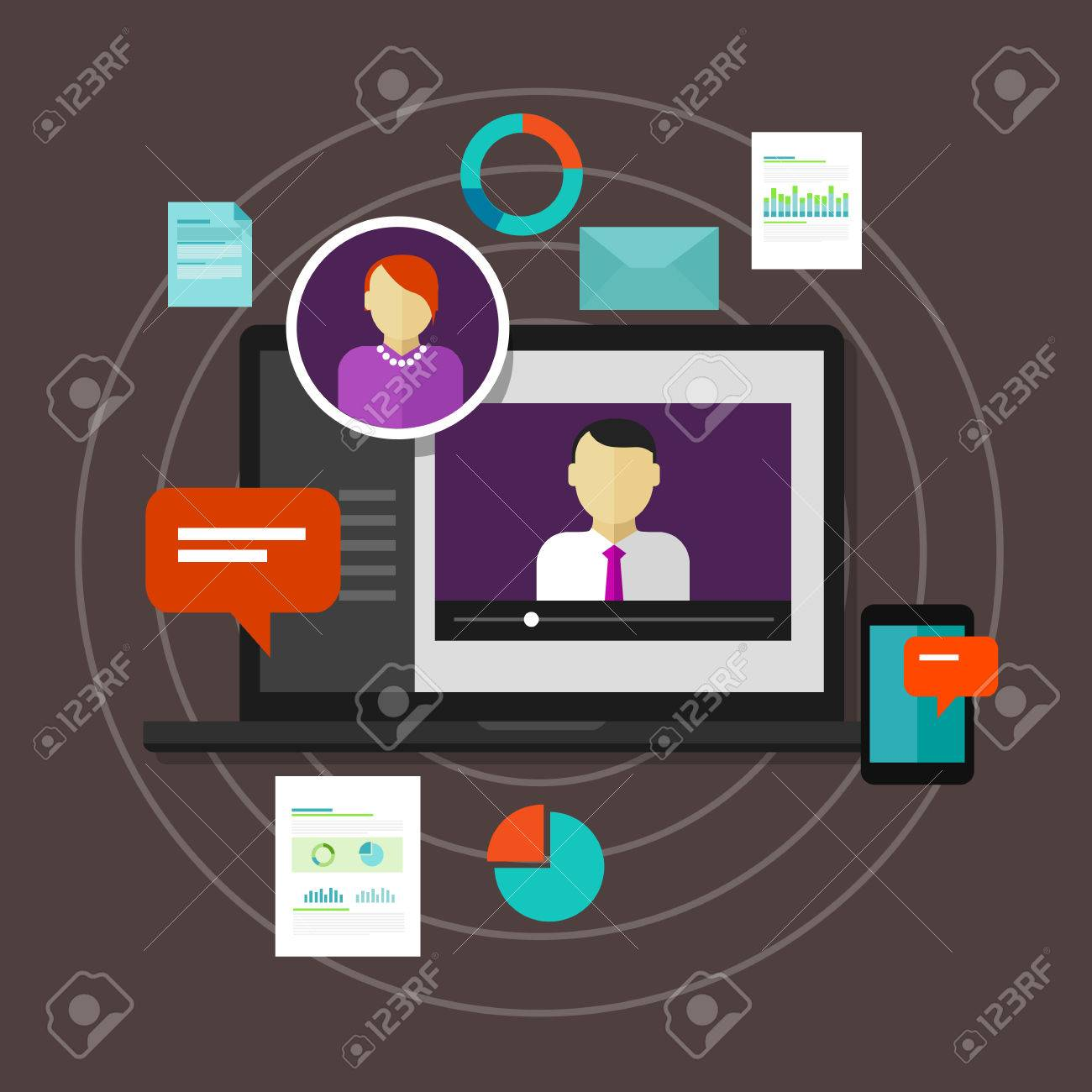 Webinar Online Training Education Concept Vector Distance Learning Royalty Free Cliparts Vectors And Stock Illustration Image 46569339
