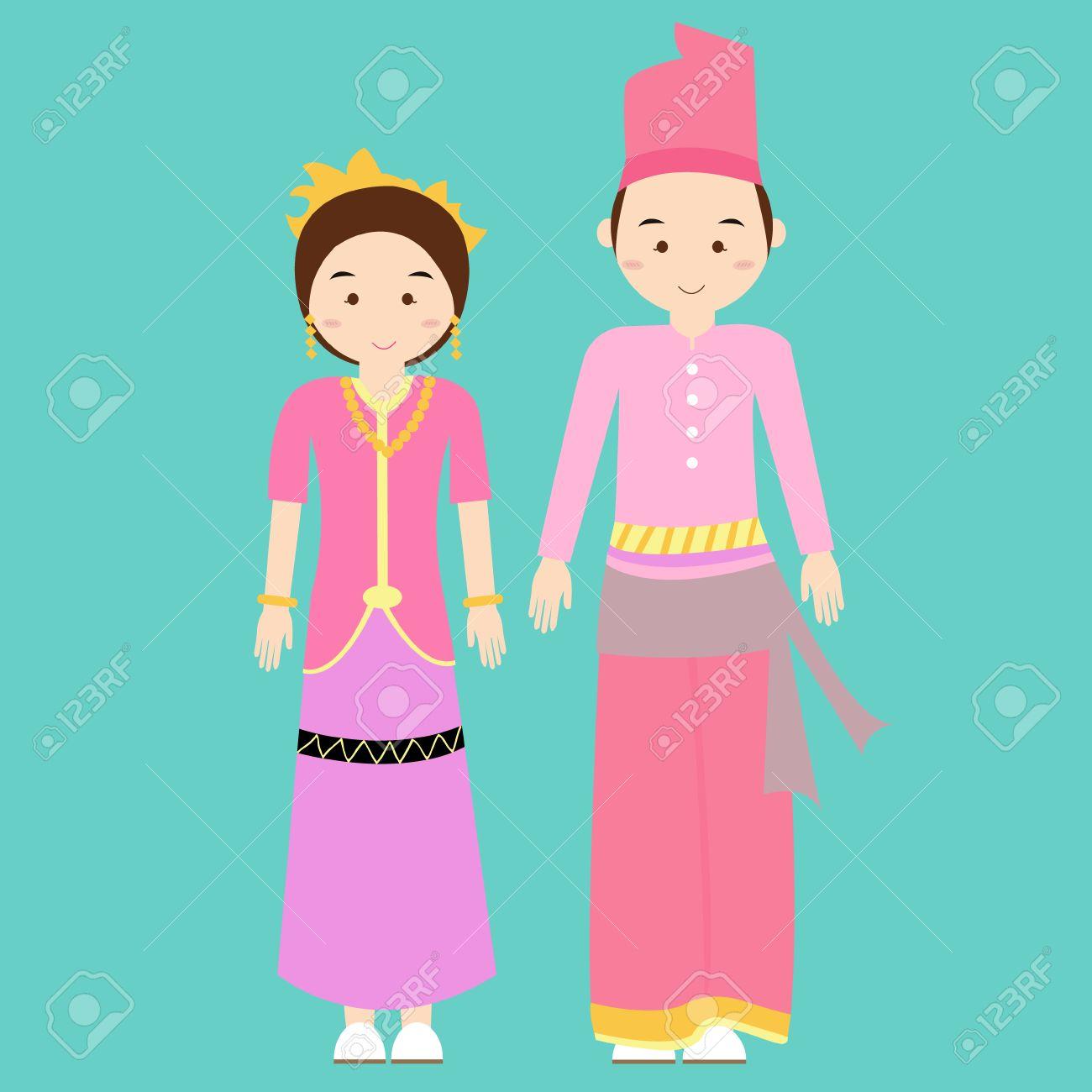 Rumah Adat Padang Vector nama pakaian adat padang sumatera barat denah