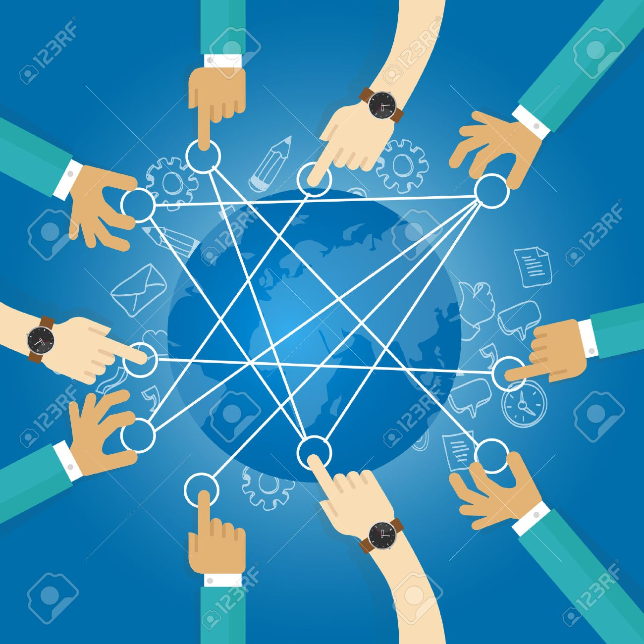 connecting world building transportation network globe collaboration team work interconnection infrastructure - 53582418