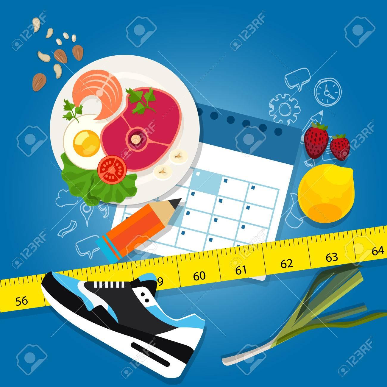 diet plan weight loss program exercise healthy food calendar