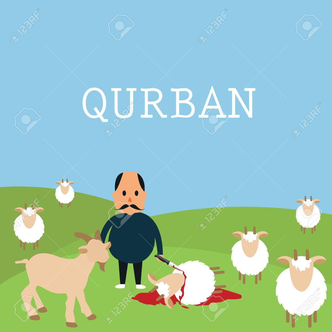 Qurban Sacrifice Kill Goat Lamb In Islam Idul Adha Udhiyyah
