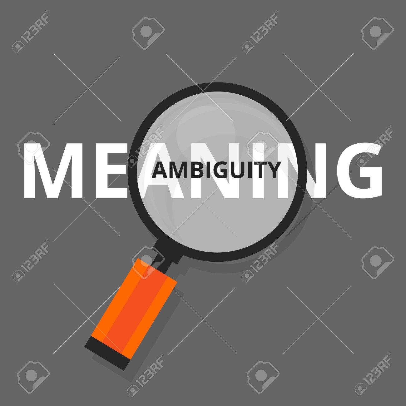 ambiguity ambiguous search find above real meanings vague puzzled vector stock vector 58711724