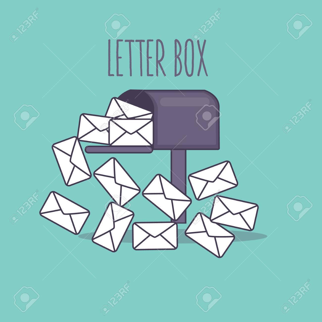 Bandeja De Entrada De La Caja Carta Completa Buzón De Correo ...
