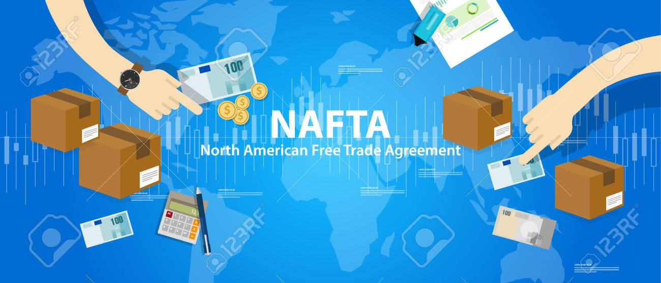 Nafta North American Free Trade Agreement Vector Royalty Free