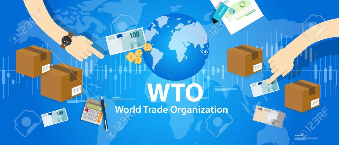 WTO World Trade Organization vector illustration market - 66903613