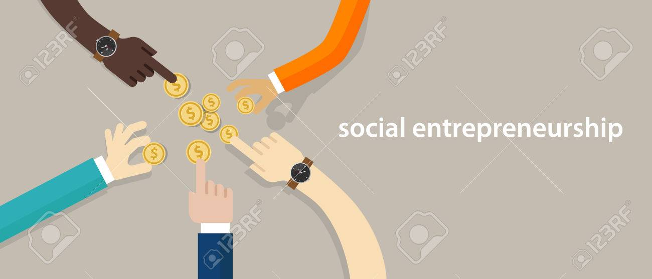 social entrepreneurship concept of business with good impact