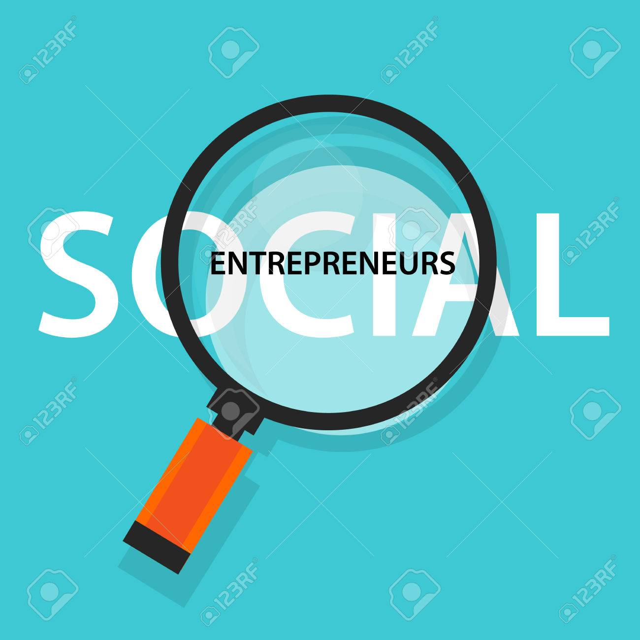 Social entrepreneurs concept of business with good impact developing