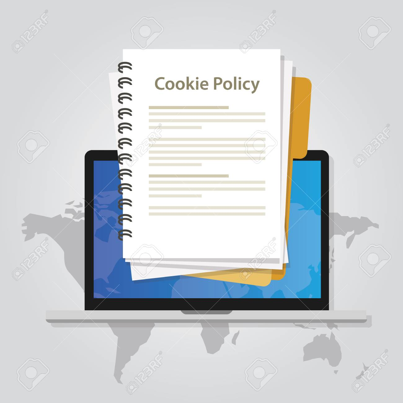 cookie policy information privacy in website collecting data from visitor vector - 83752285