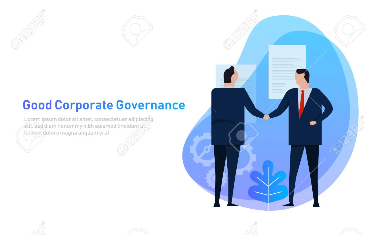 Good Corporate Governance. Business team agree on set of principle and cooperation. Vector - 109831944