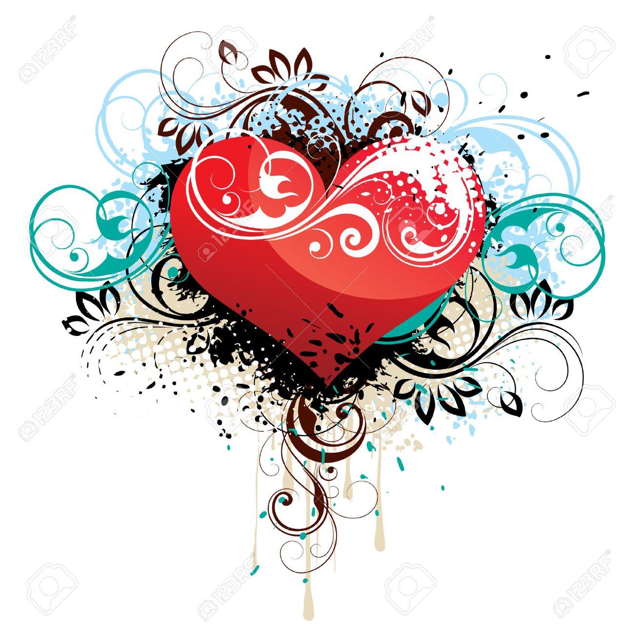 Abstract heart Stock Vector - 4174442