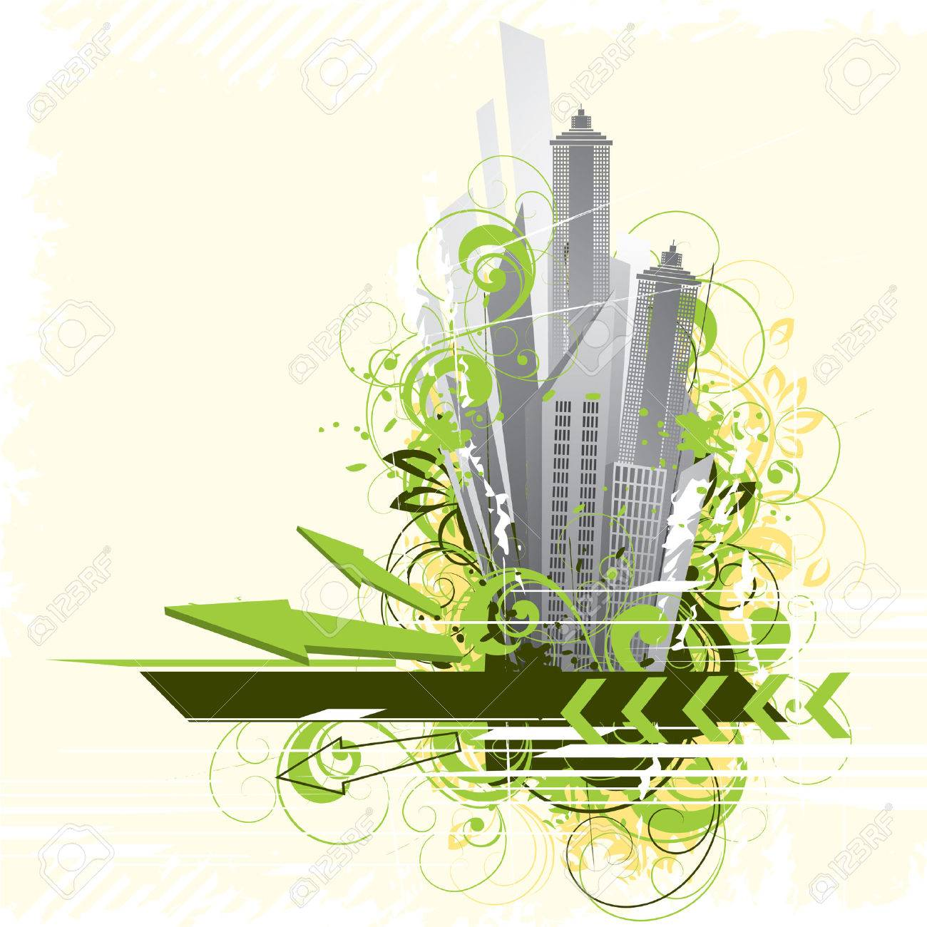 Abstract city Stock Vector - 4874043