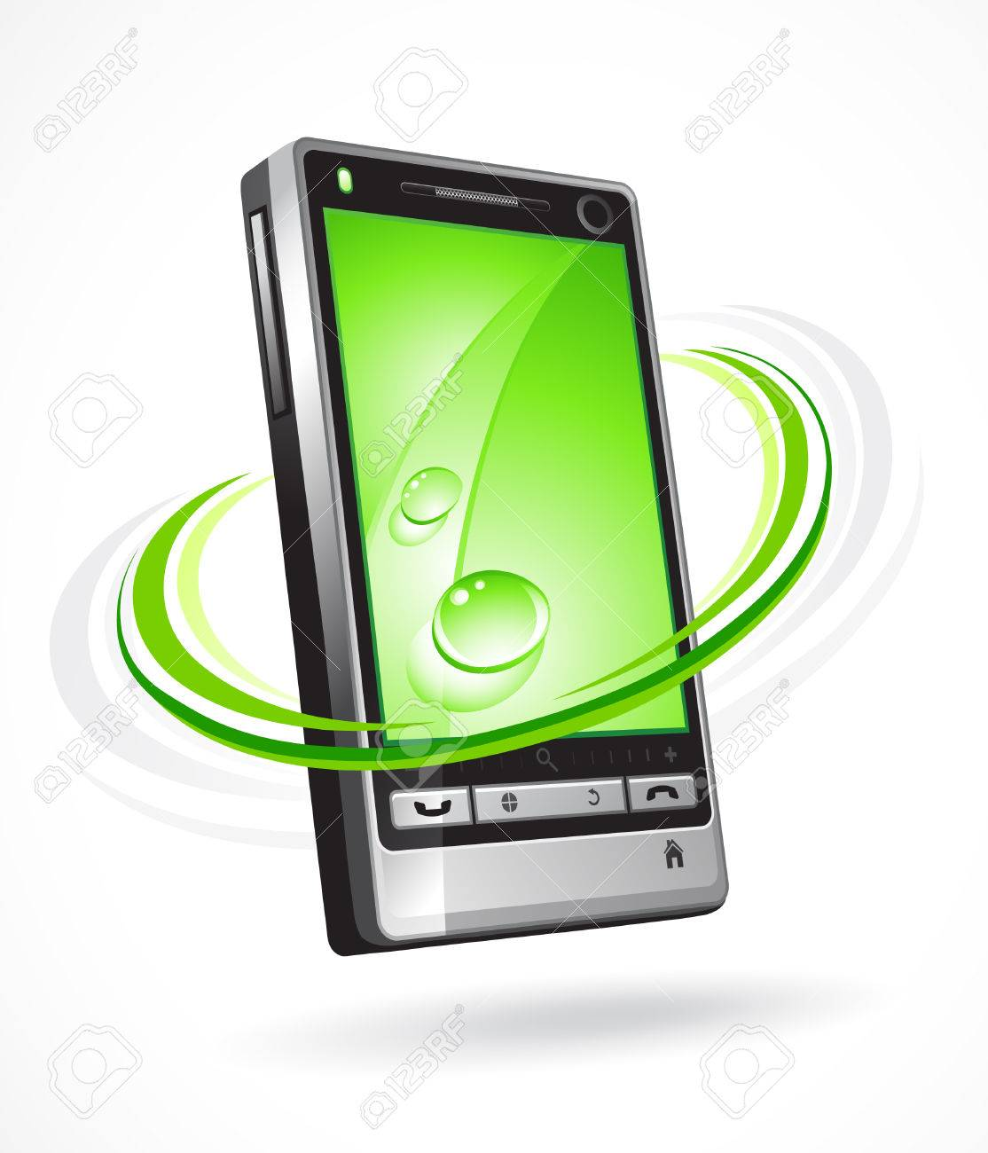 Ecological phone Stock Vector - 6709706