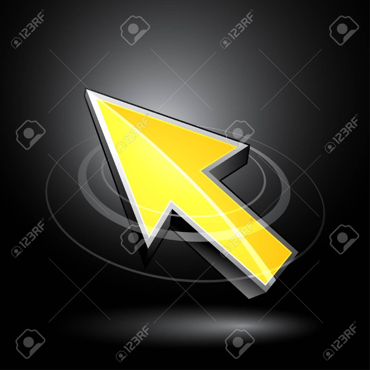 3D cursor Stock Vector - 6869570