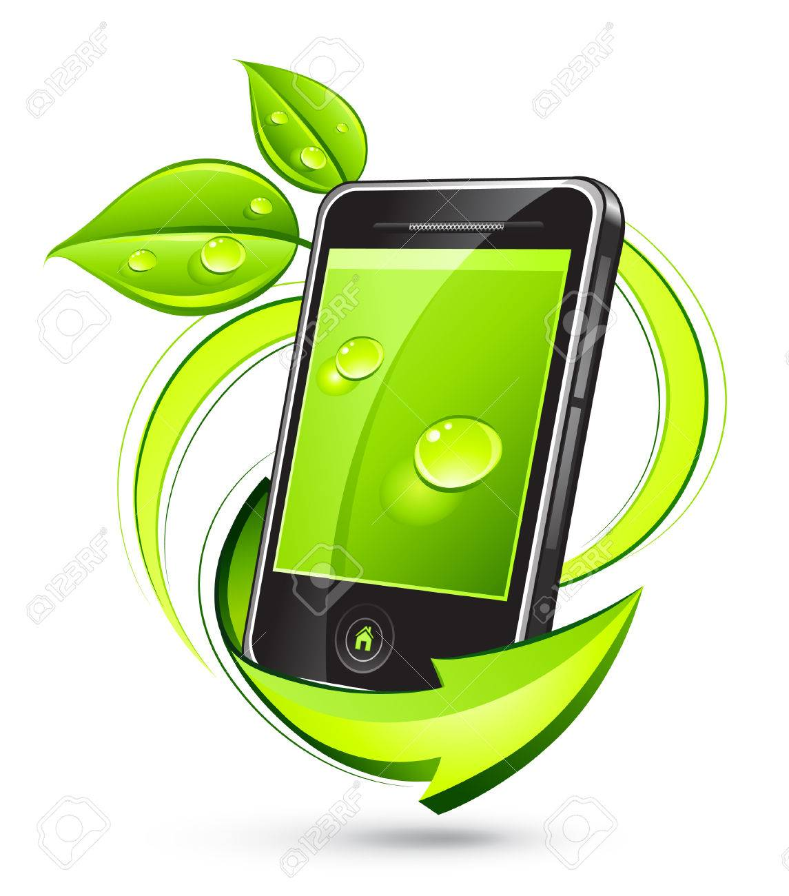 Green phone Stock Vector - 7117058
