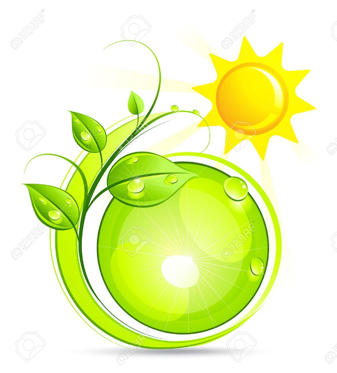 Solar green composition Stock Vector - 7163675