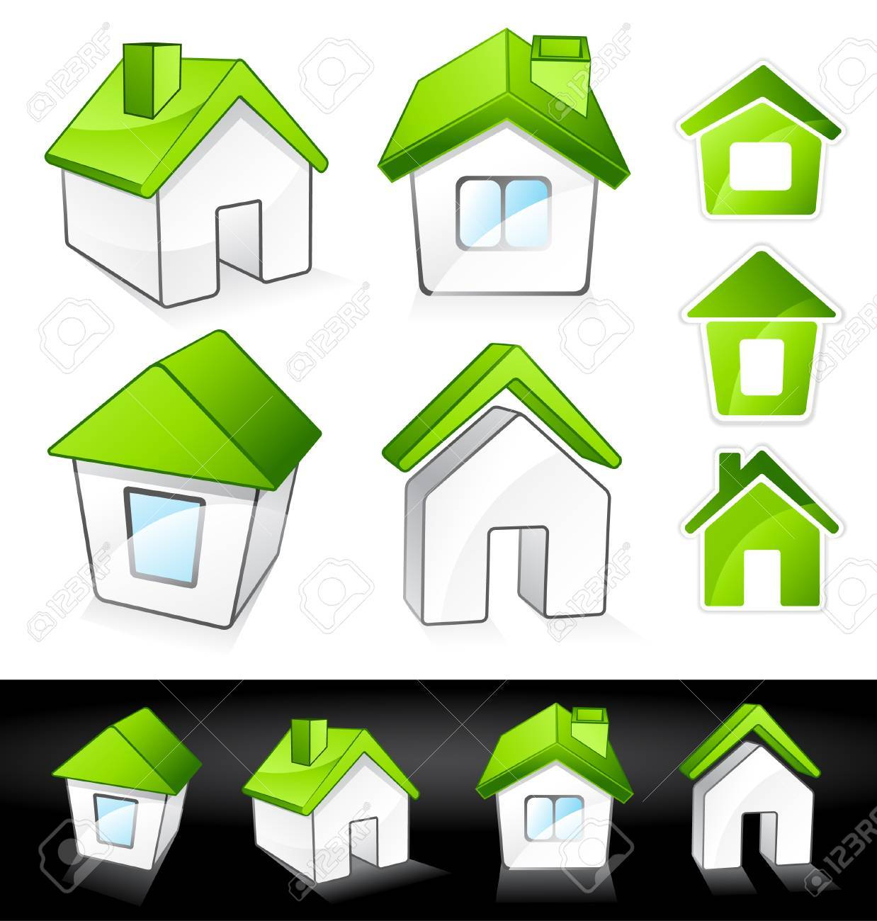 Green houses Stock Vector - 7288111