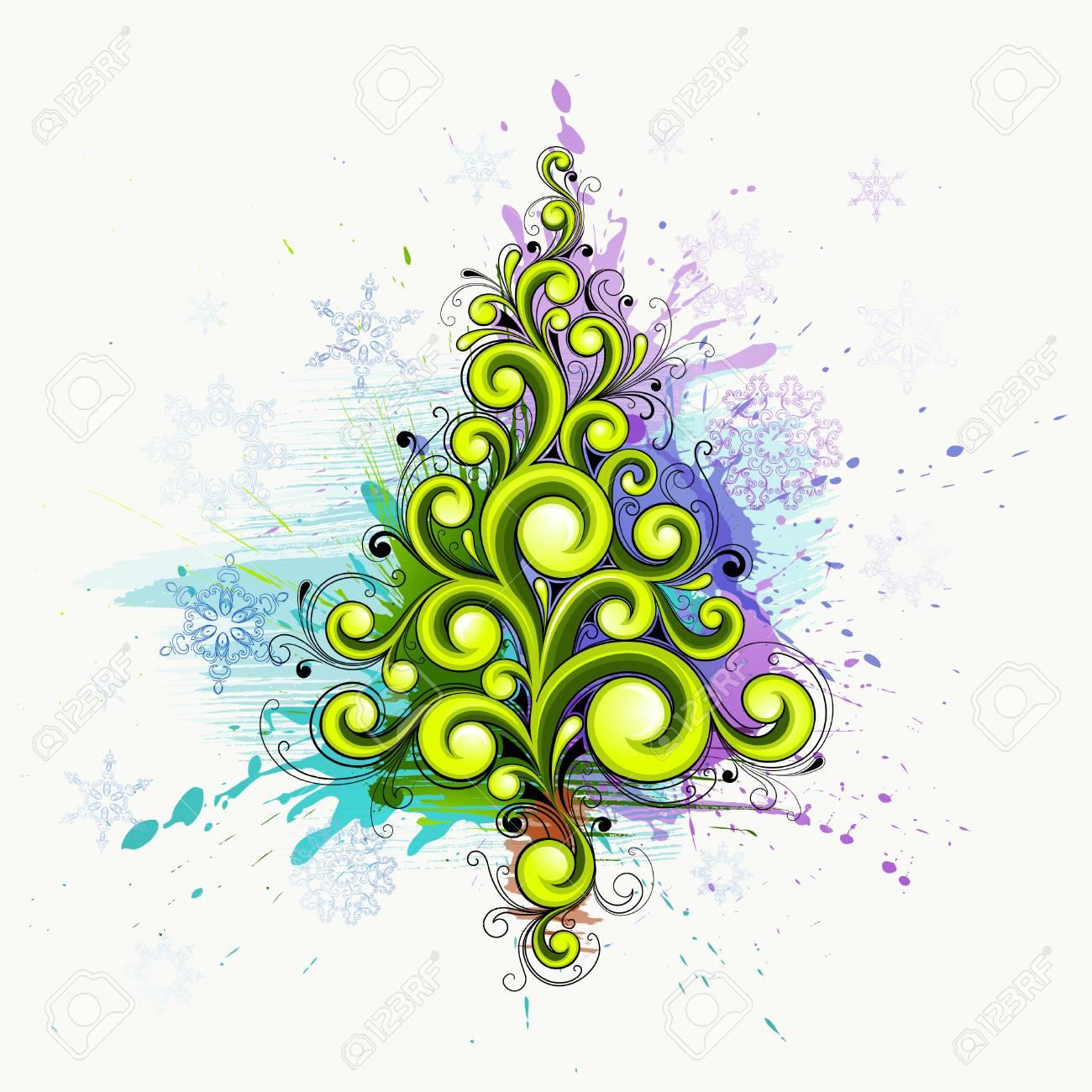 Abstract Christmas tree Stock Vector - 8317514