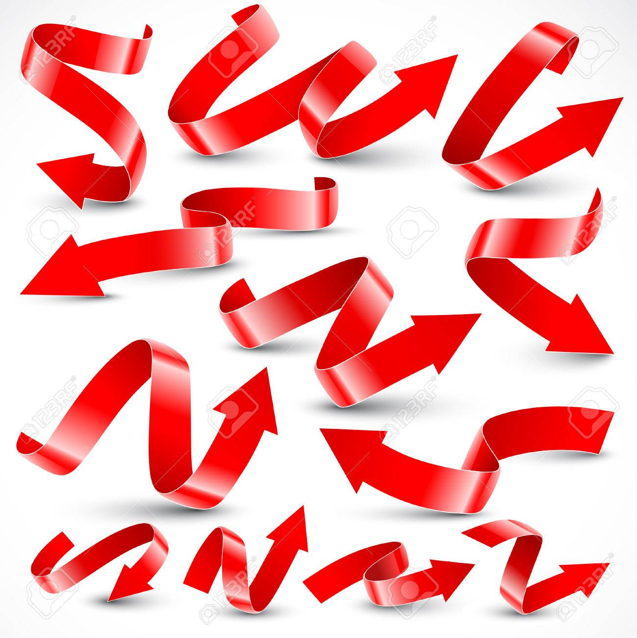 Red arrows. Vector illustration. Stock Vector - 8391548