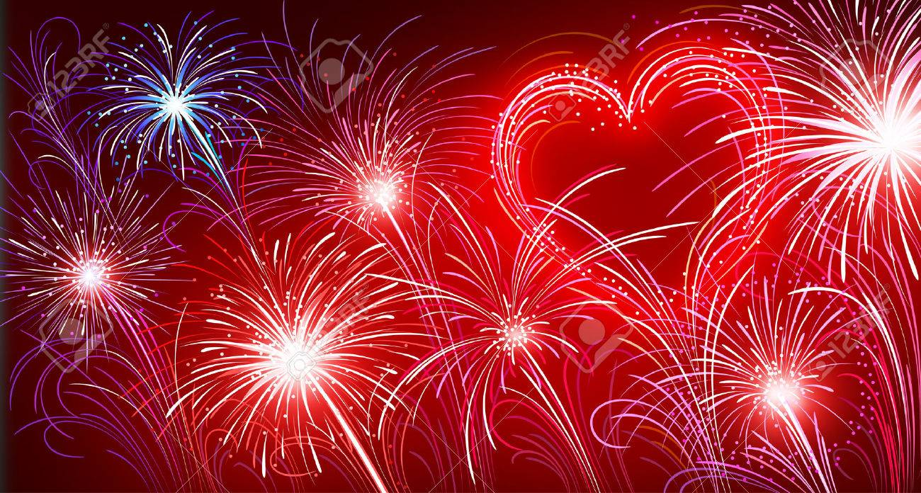 Image result for heart fireworks