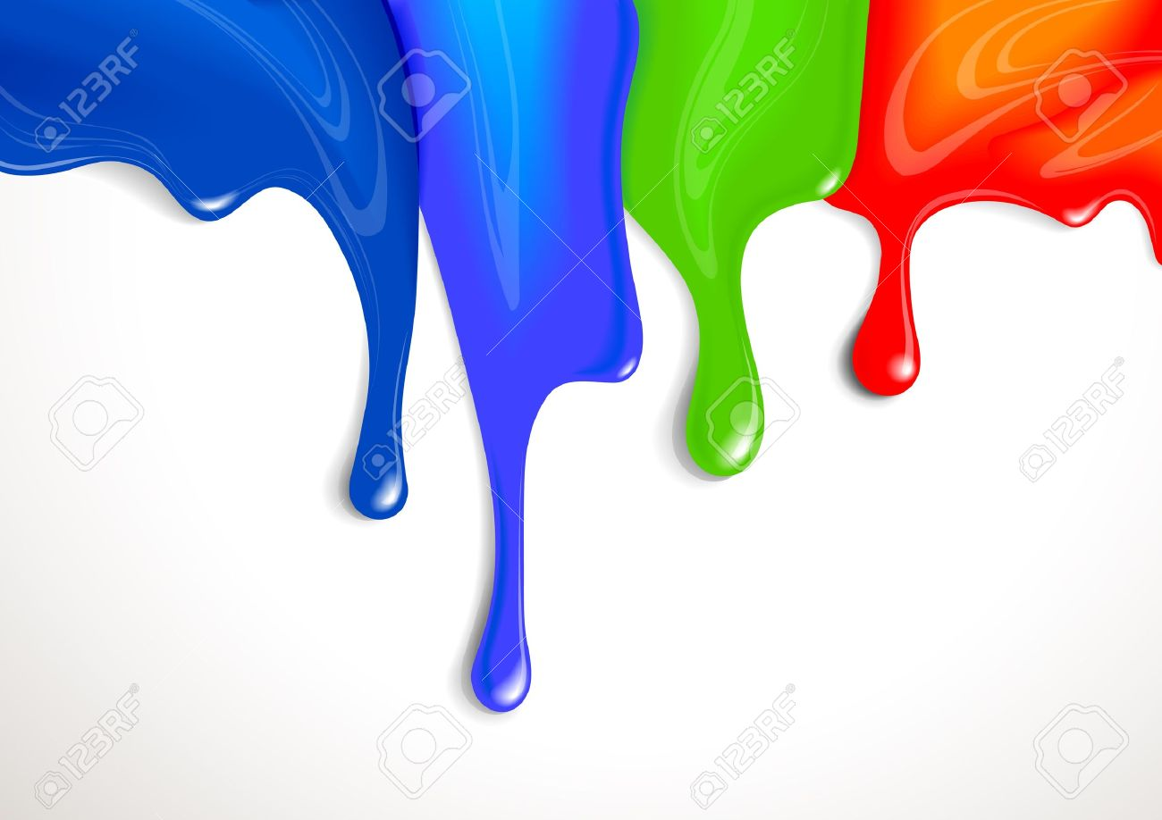 Drips of paint - 9866982