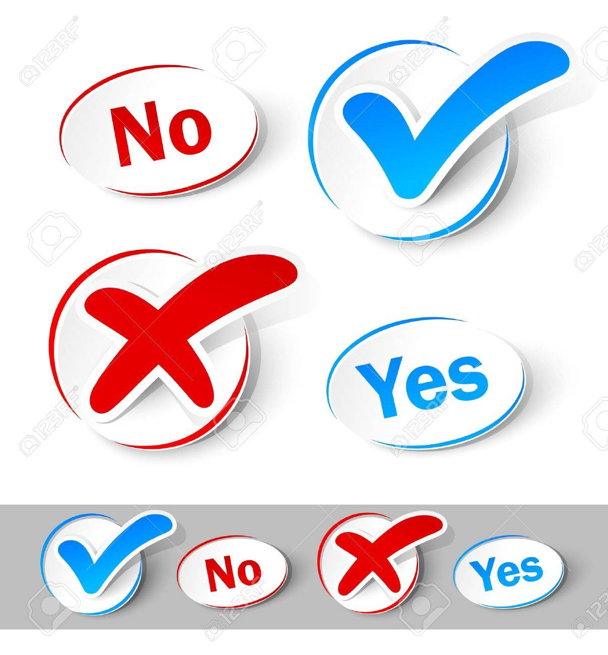 Check mark Yes and No Stock Vector - 12773081