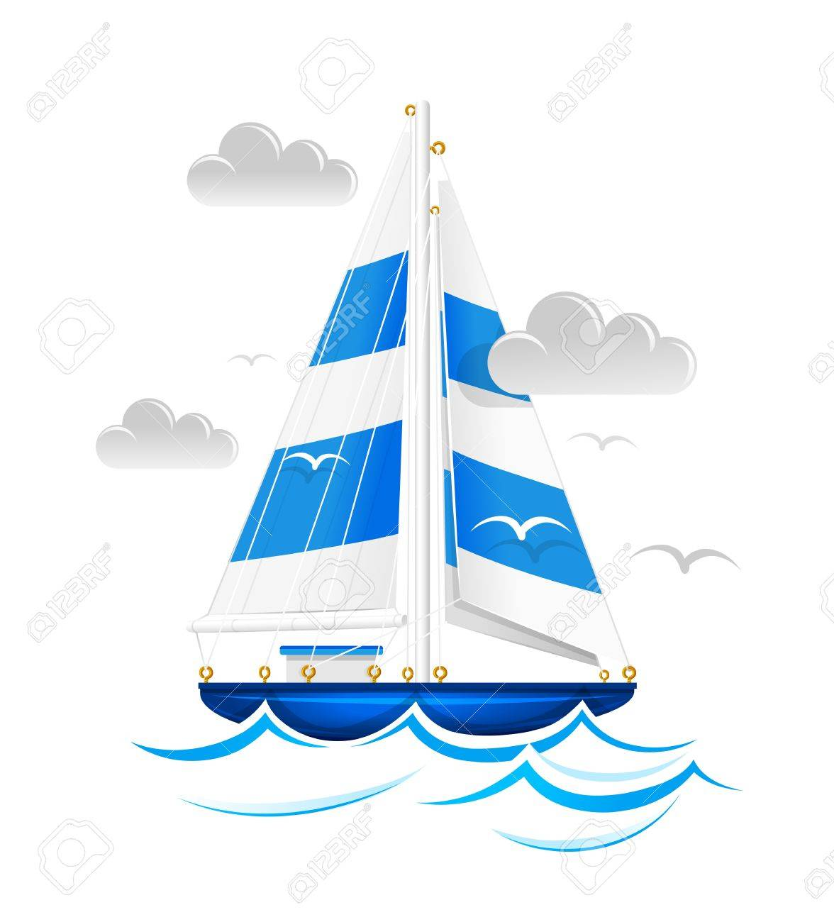 Sailing ship. Stock Vector - 12992826