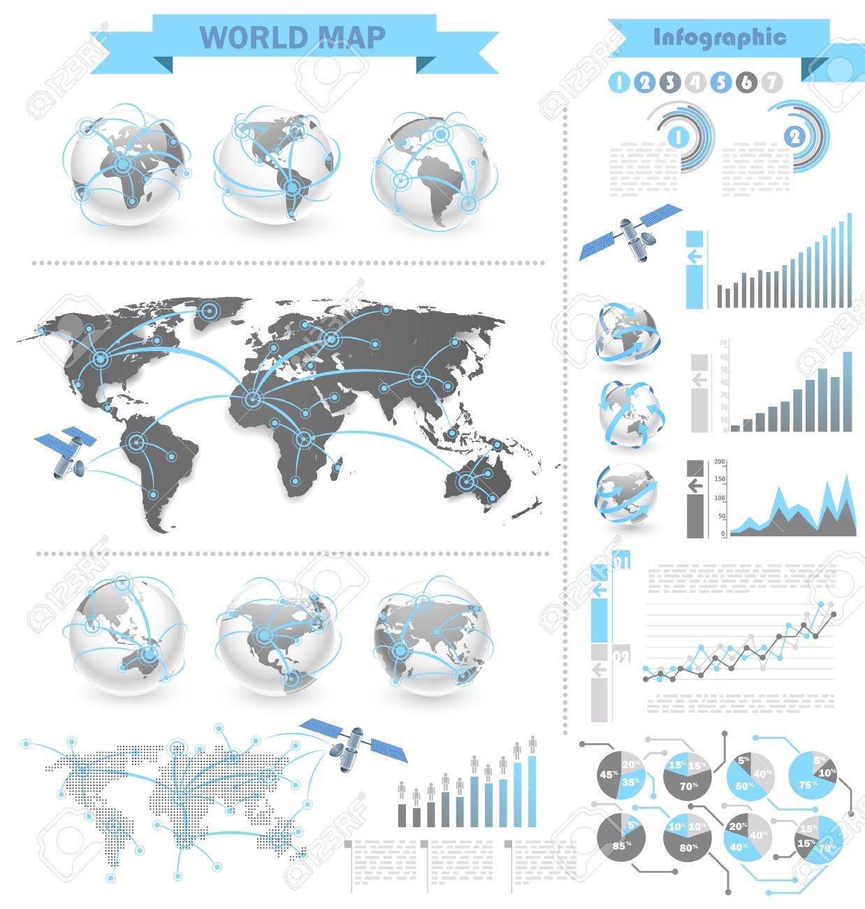 World map infographic royalty free cliparts vectors and stock vector world map infographic gumiabroncs Image collections