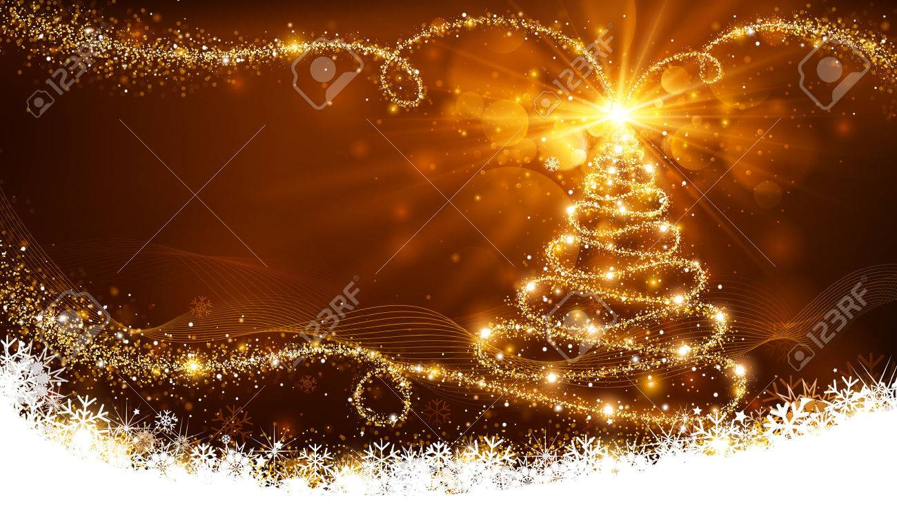 Magic Christmas Tree Royalty Free Cliparts Vectors And Stock  - Magic Christmas Tree