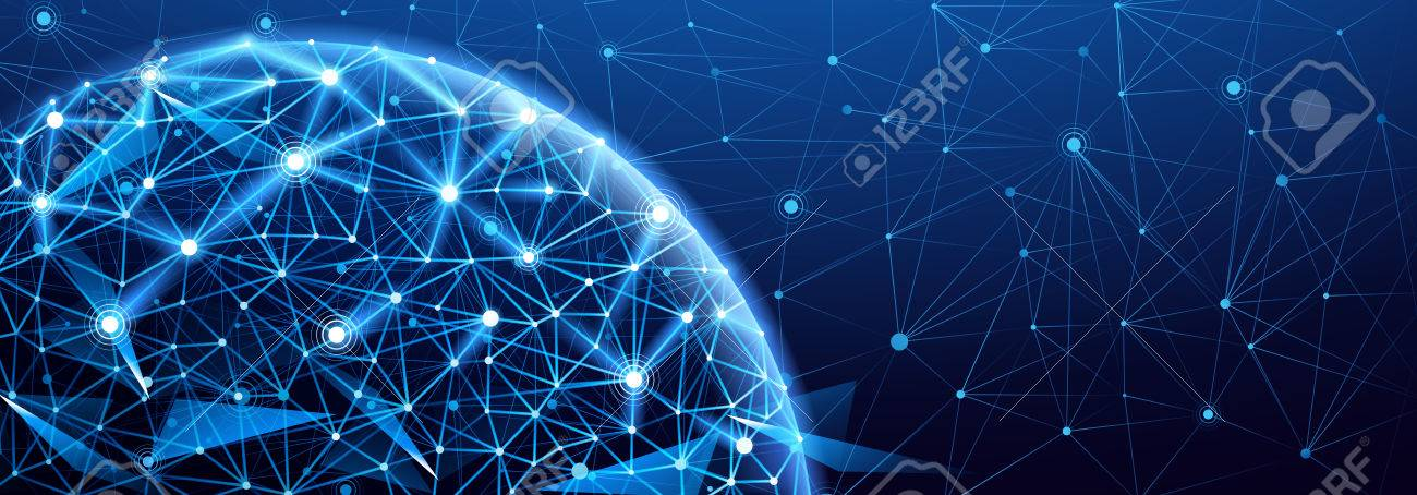 Global network connection. World map point, international meaning - 55029948
