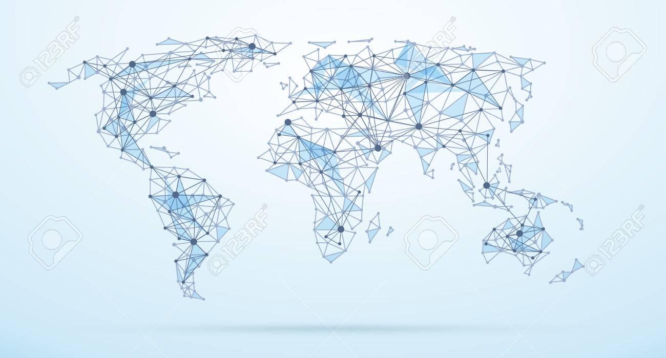 carte du monde graphique Carte Du Monde Des Formes Géométriques Abstraites, Faible