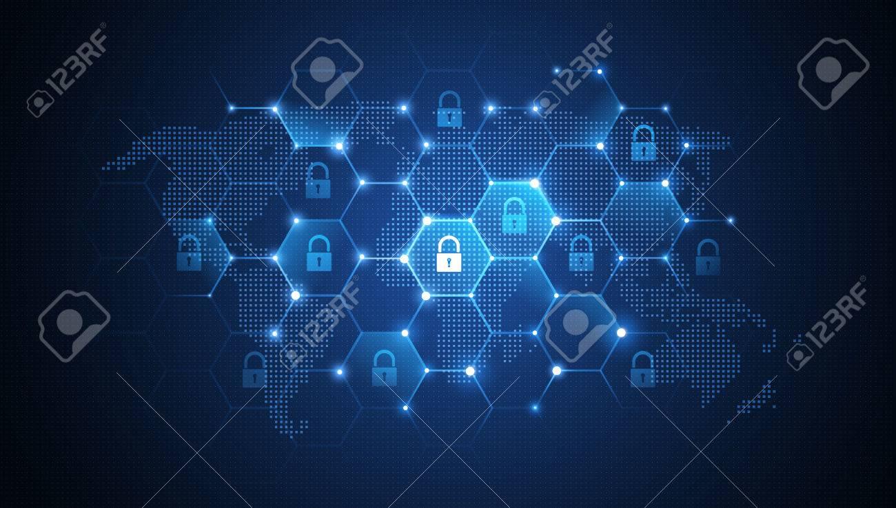 Internet security global network background. illustration - 58199746