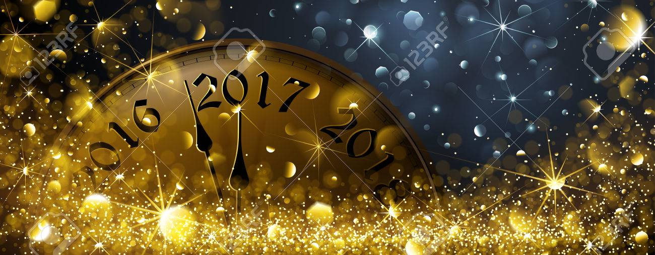 New Year's Eve 2017. Vector illustration Standard-Bild - 63826536