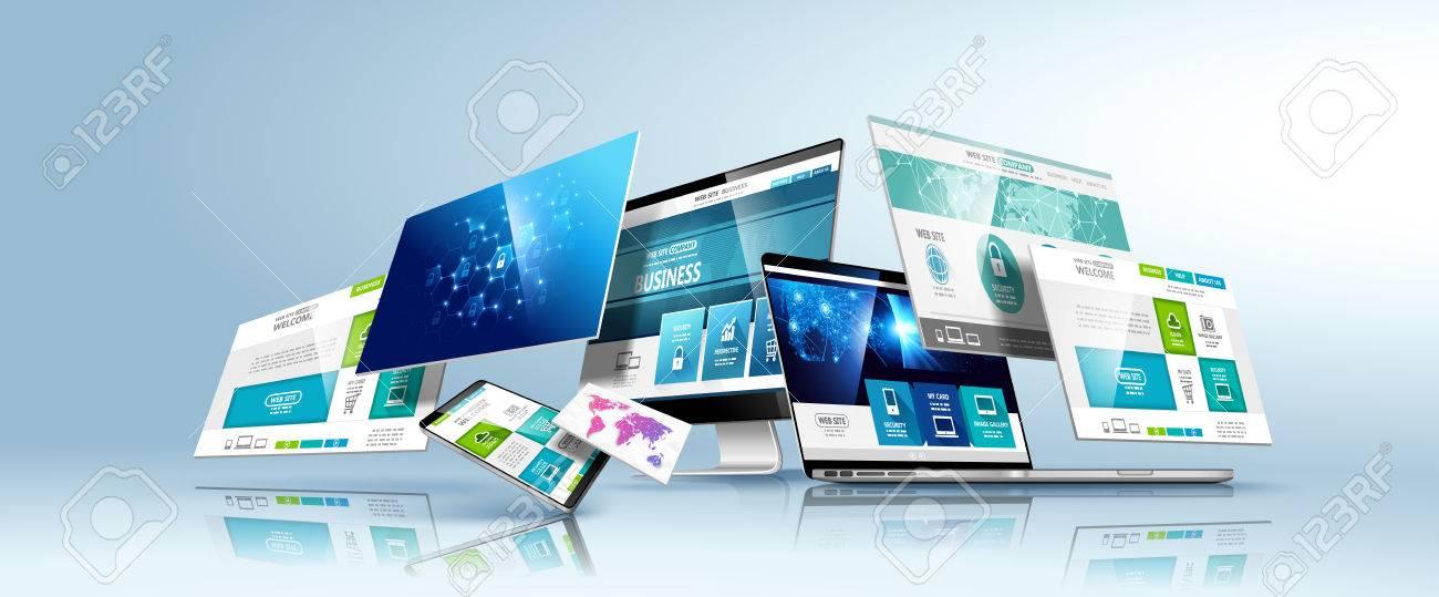 Web design template. Vector. - 74288682