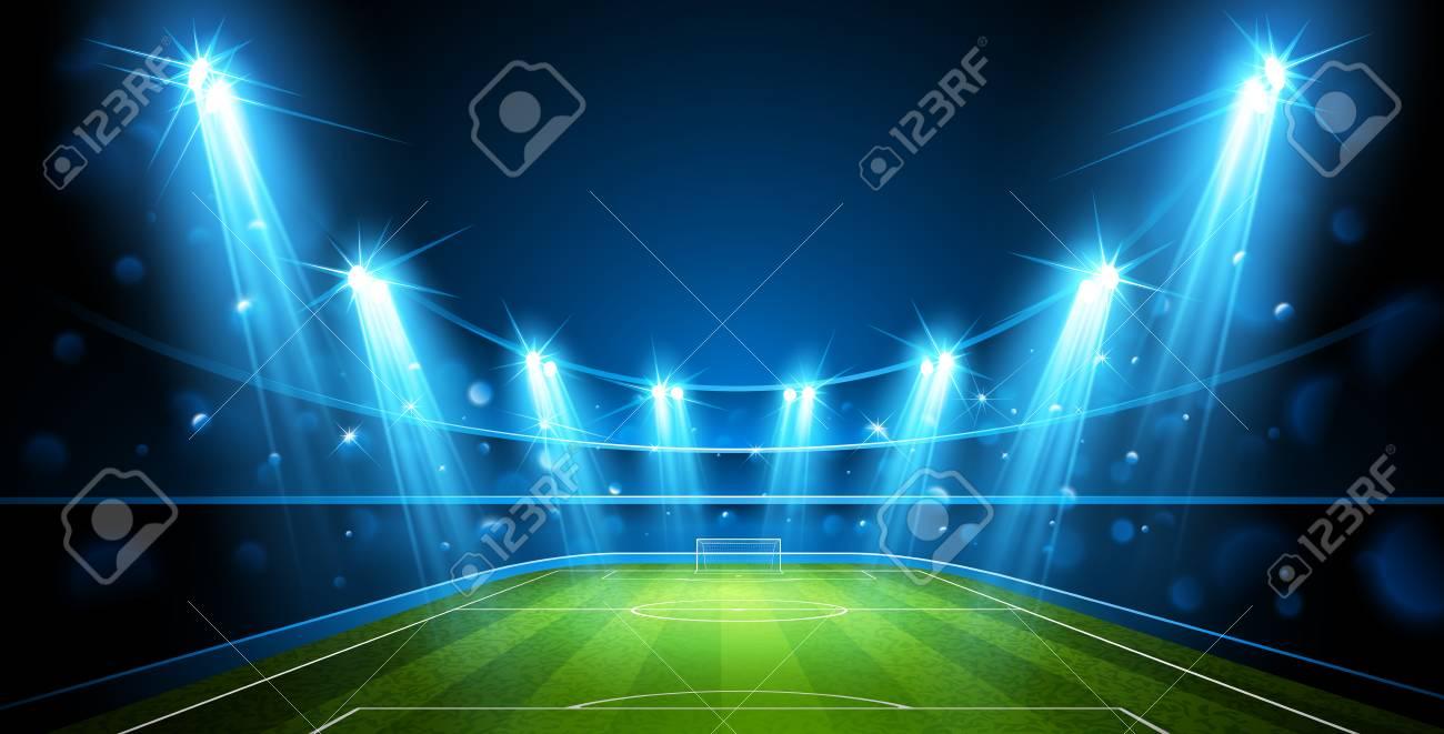 Football arena vector. - 98309684