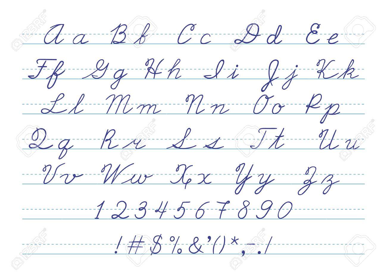Estremamente Lettere Corsivo Maiuscolo – Idea d'immagine di decorazione MI73