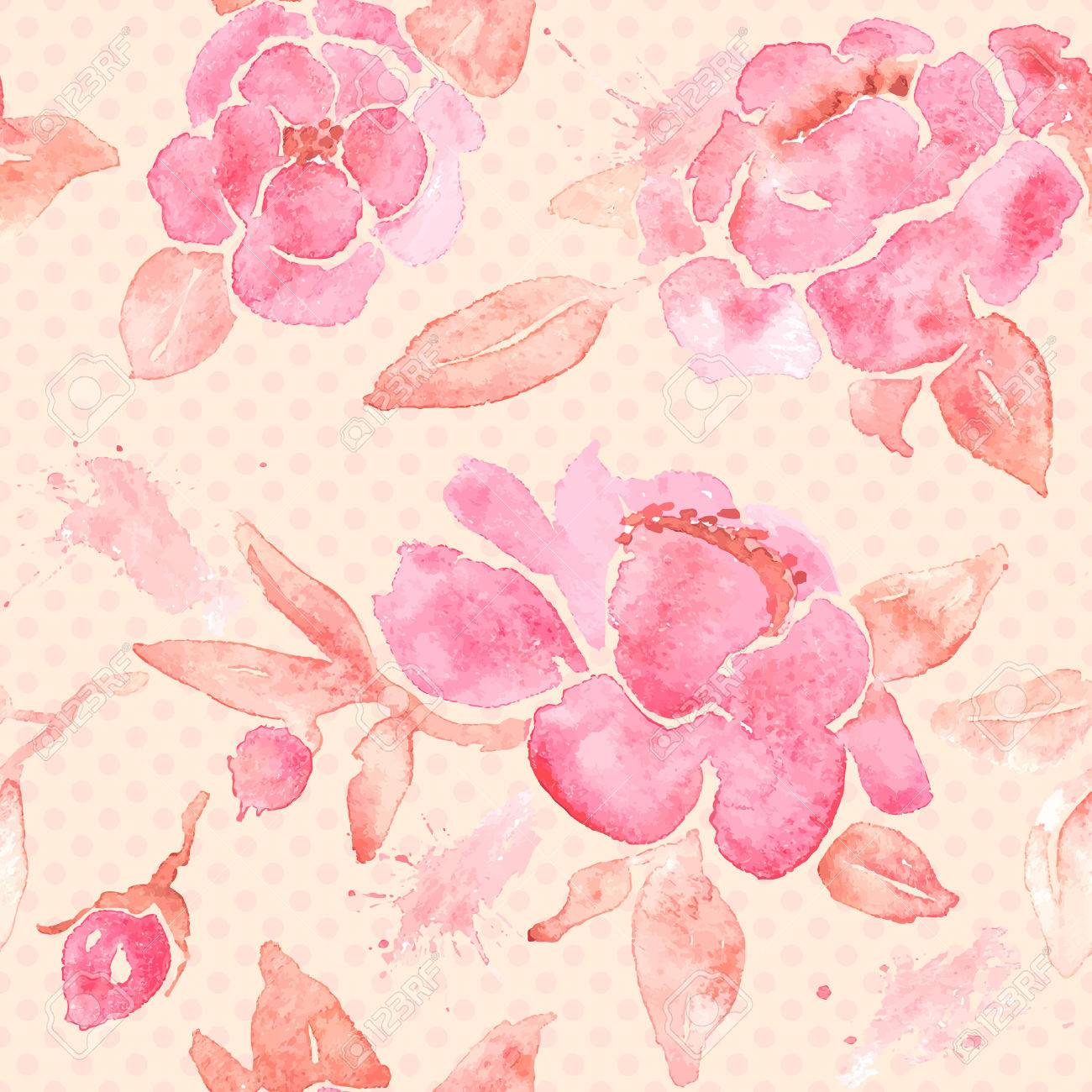 Seamless wallpaper with Peony flowers. - 33048805
