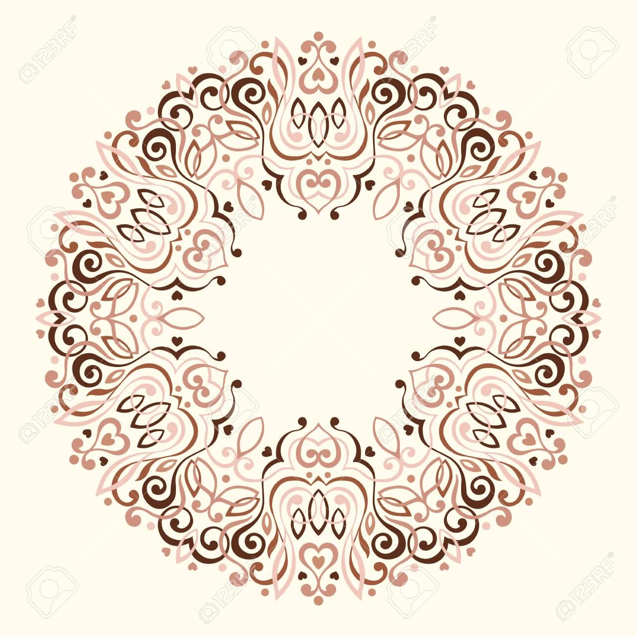 Mandala Abstracta Adornada. Marco Decorativo Para El Diseño ...
