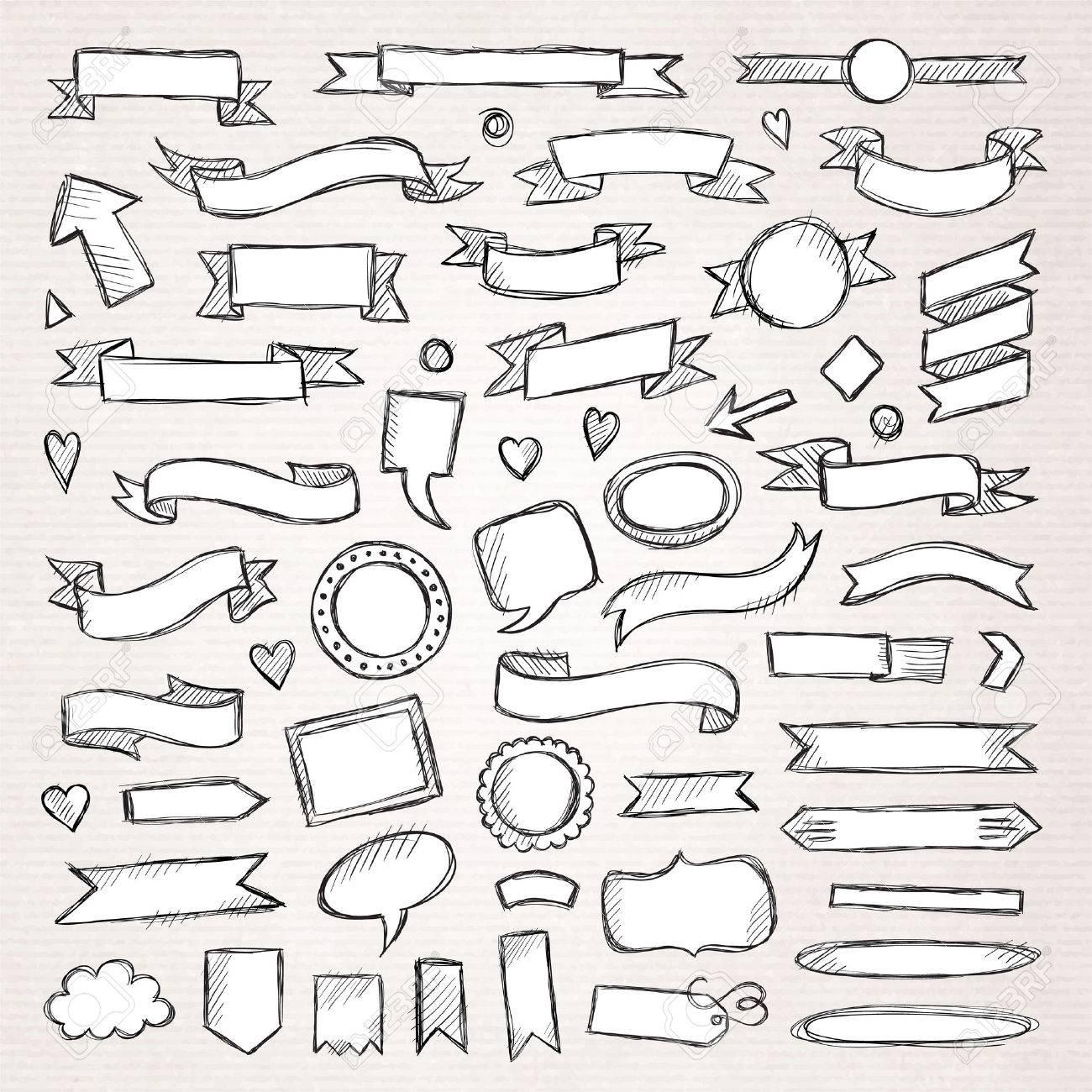 Hand drawn sketch hand drawn elements. Vector illustration. - 40213724