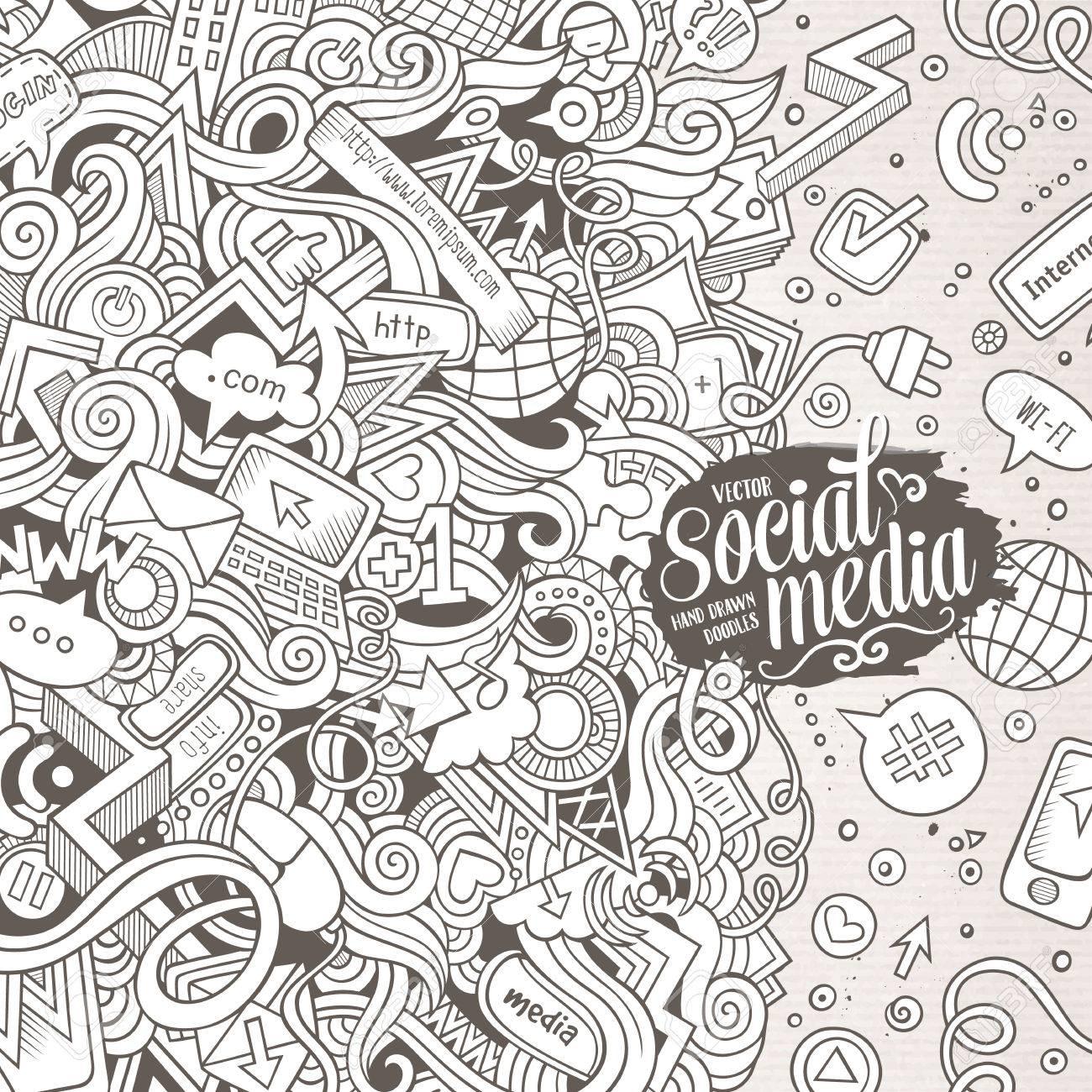 Dessin Anime Mignon Doodles Illustration Internet Dessines A La Main