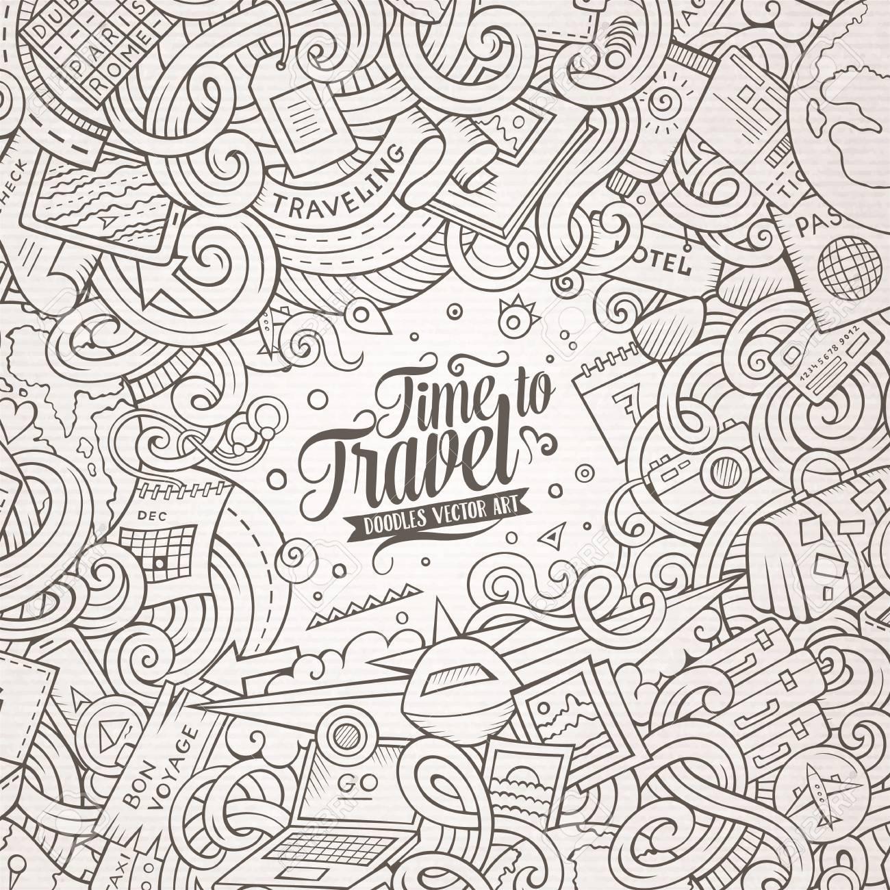 Creative Doodle Art Border Design