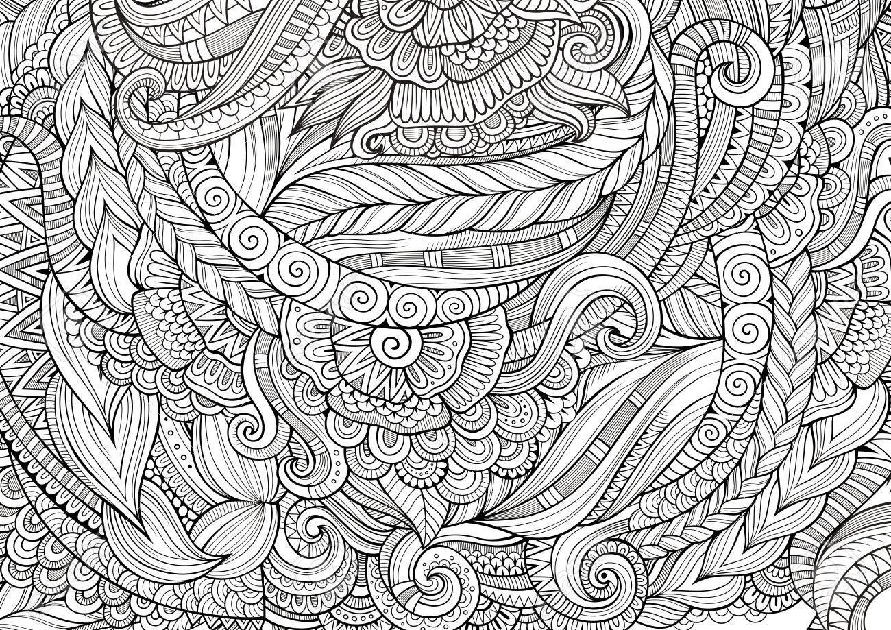 Famoso Patrón Detallado Para Colorear Bosquejo - Dibujos Para ...