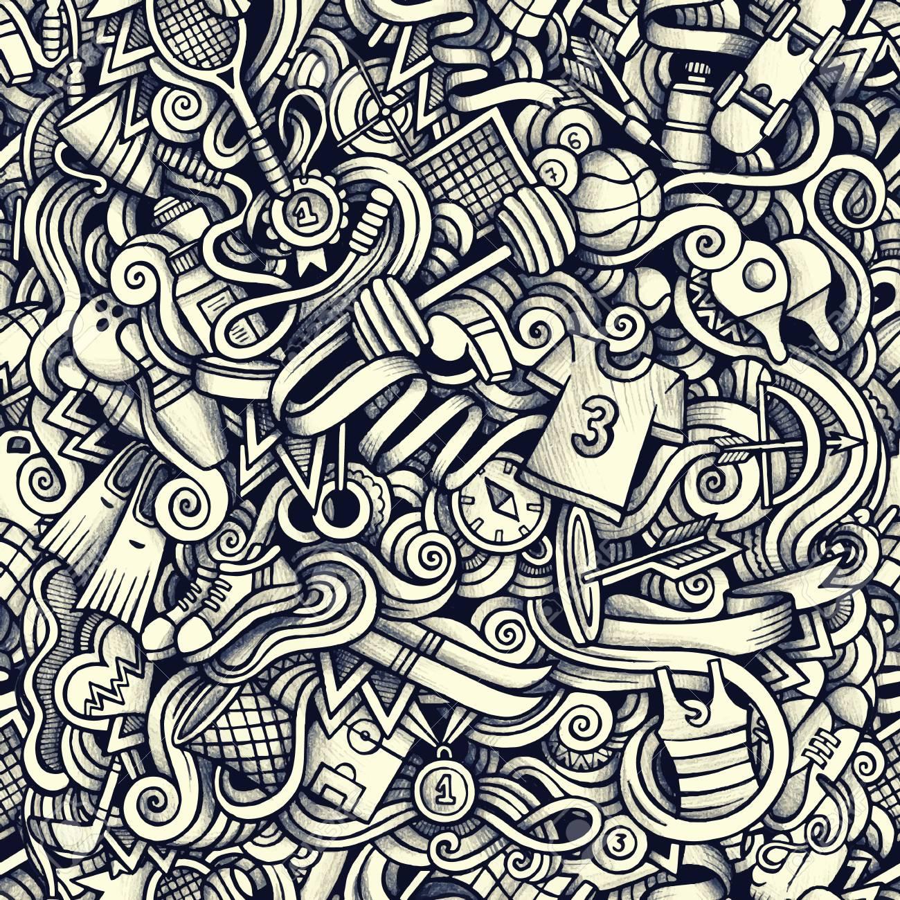 Grafica Sport Disegnata A Mano Disegni Artistici Senza Soluzione Di