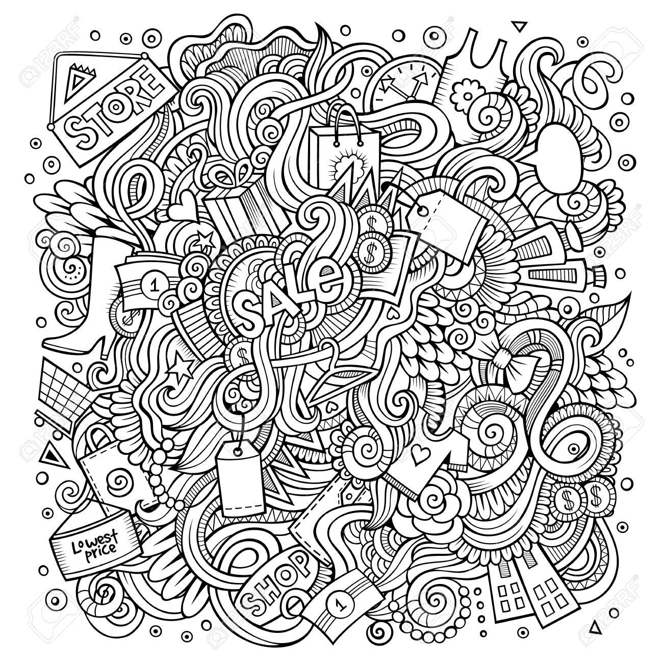 Dessin Anime Mignon Doodles Dessines A La Main Illustration