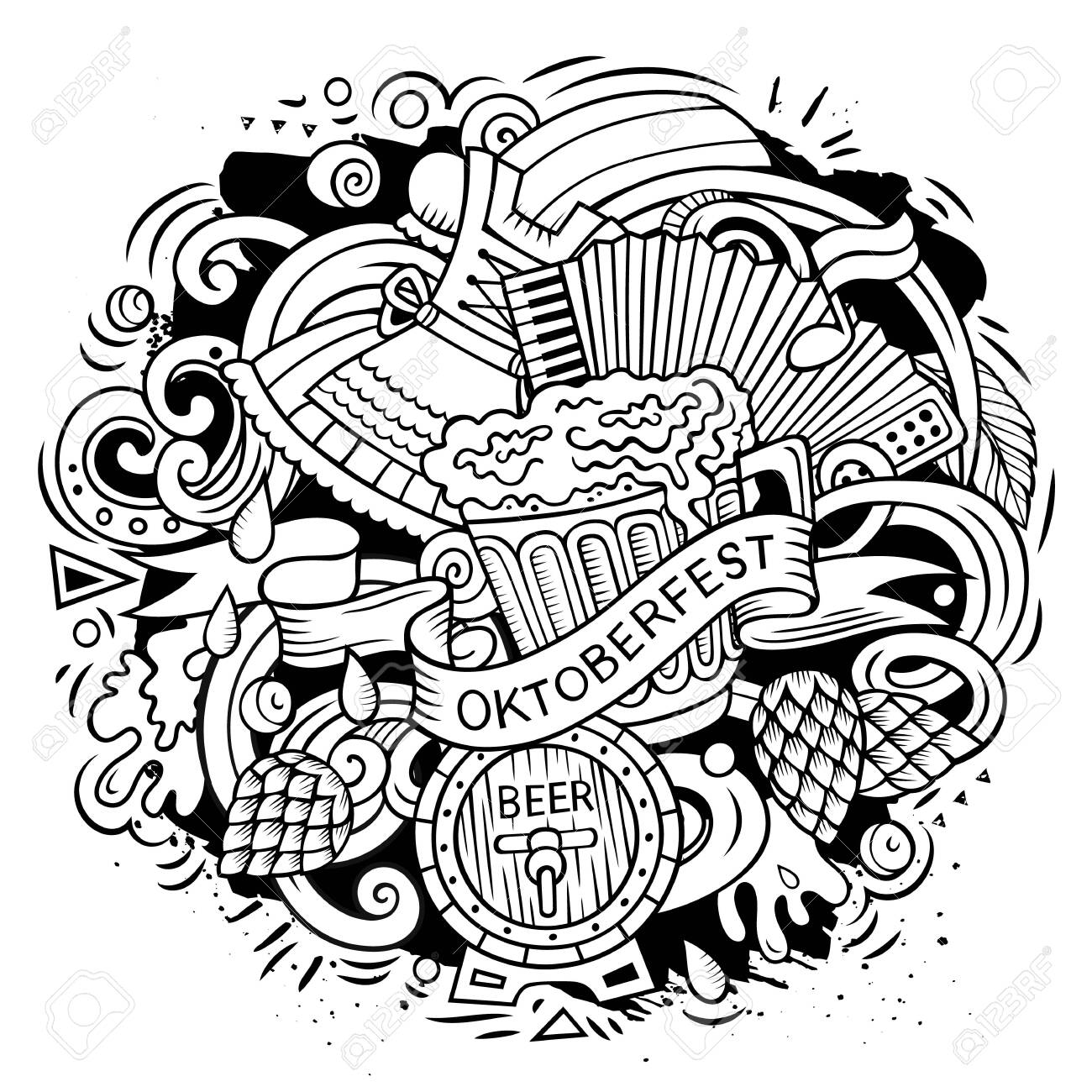 Top 20 Printable Oktoberfest Coloring Pages - Online Coloring Pages   1300x1300