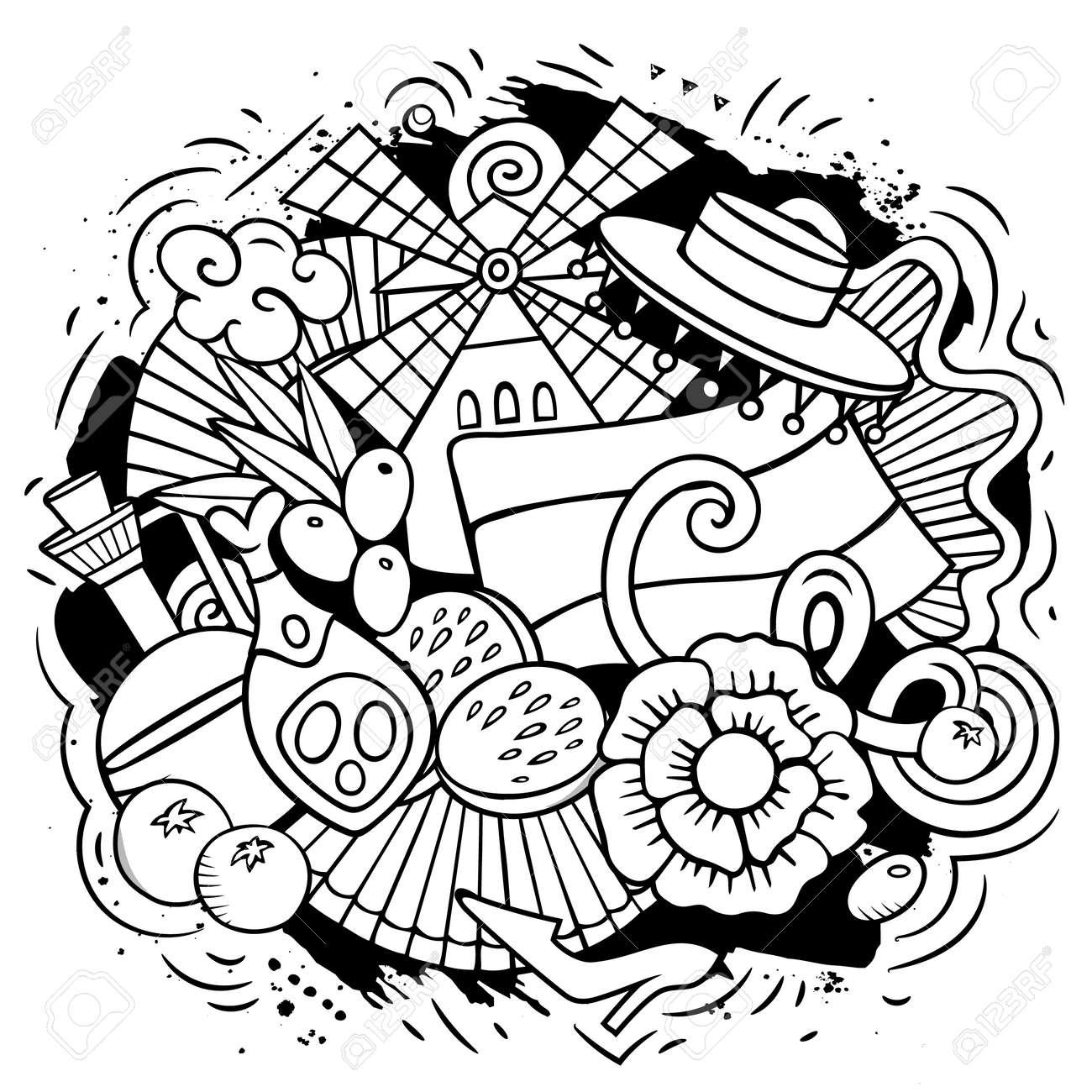 Spain hand drawn cartoon doodle illustration - 170244475